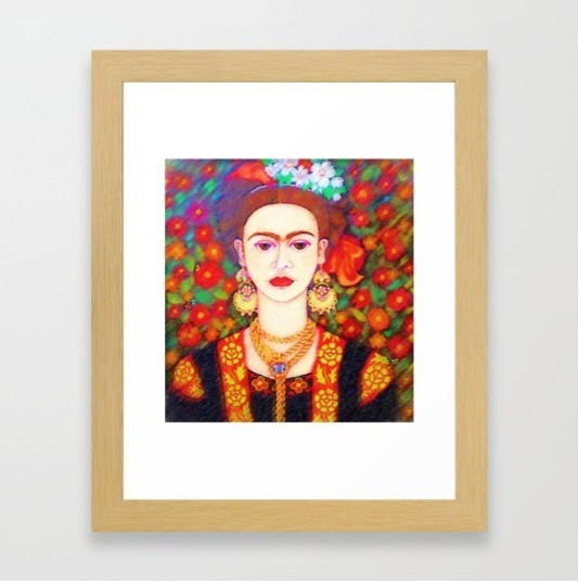 my other Frida Kahlowith butterflies